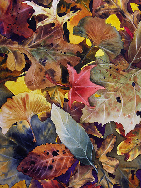 Autumn Floor #1 - Watercolor by Shirley Nachtrieb