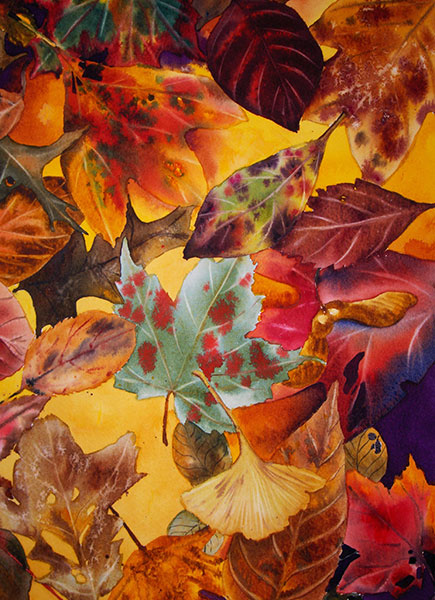 Autumn Floor #2 - Watercolor by Shirley Nachtrieb
