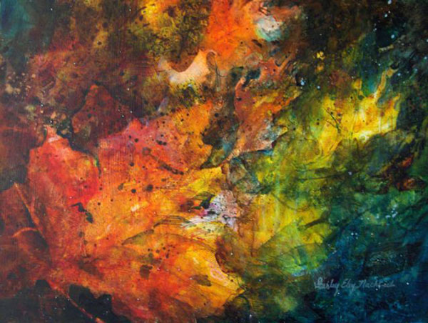 Autumn Glow acrylic painting by Shirley Nachtrieb