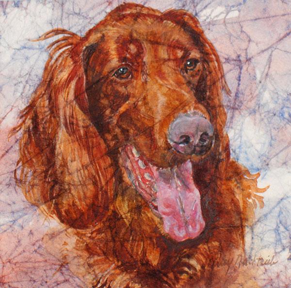 Bert - Pet Portrait by Shirley Nachtrieb