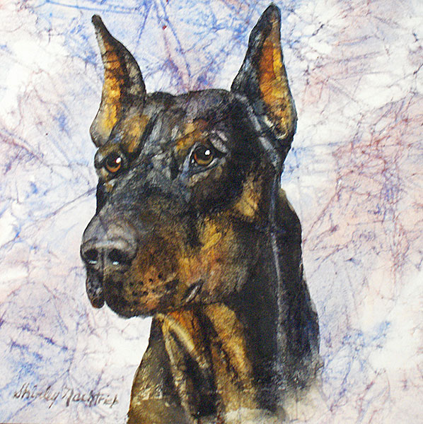 Buster - Pet Portrait by Shirley Nachtrieb