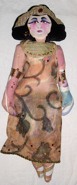 Egyptian #2 - Dolls by Shirley Nachtrieb
