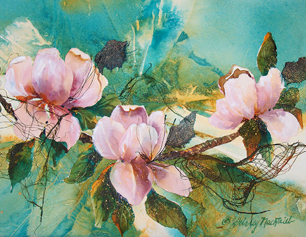 Envy Magnolia #3 - Collage by Shirley Nachtrieb