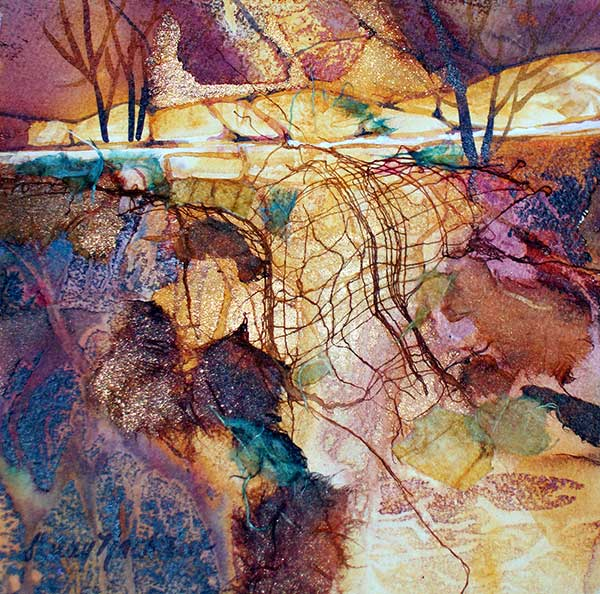 High Road #17 - Watercolor by Shirley Nachtrieb