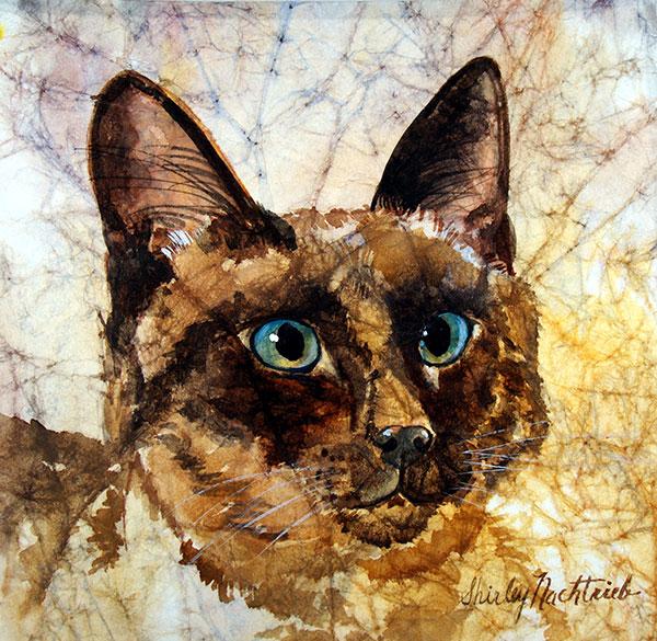 Maggie - Pet Portrait by Shirley Nachtrieb