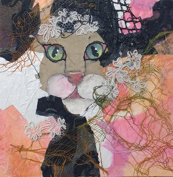 Remnants #1 - Collage by Shirley Nachtrieb
