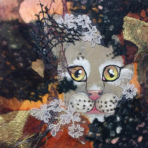 Remnants #2 - Collage by Shirley Nachtrieb