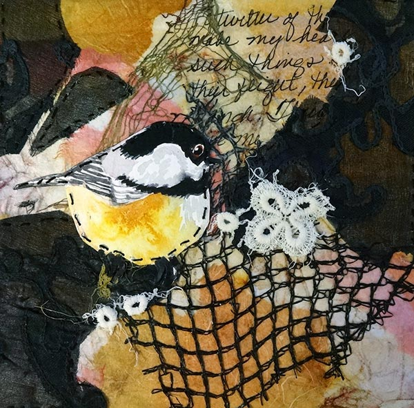 Remnants #4 - Collage by Shirley Nachtrieb