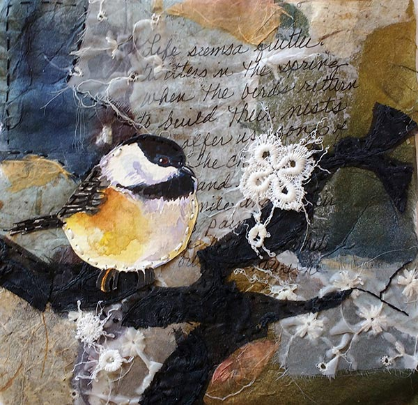 Remnants #5 - Collage by Shirley Nachtrieb