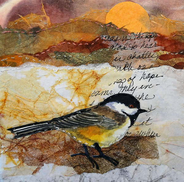 Remnants #7 - Collage by Shirley Nachtrieb