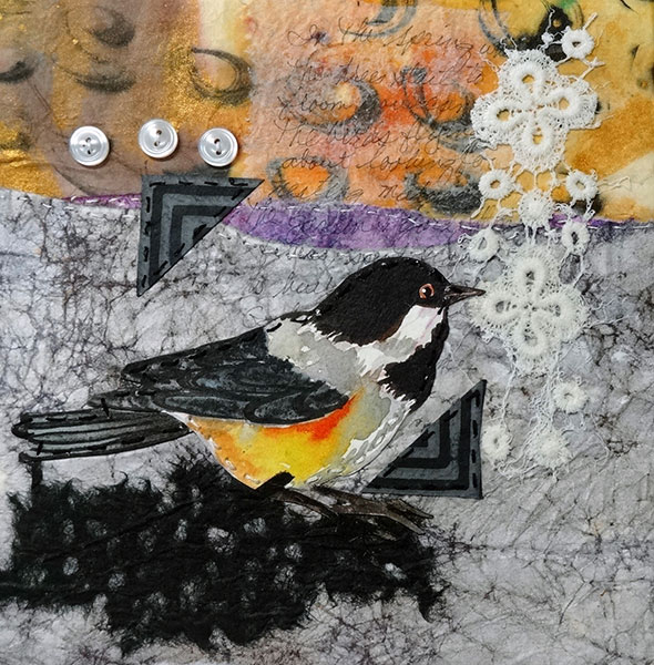 Remnants #8 - Collage by Shirley Nachtrieb