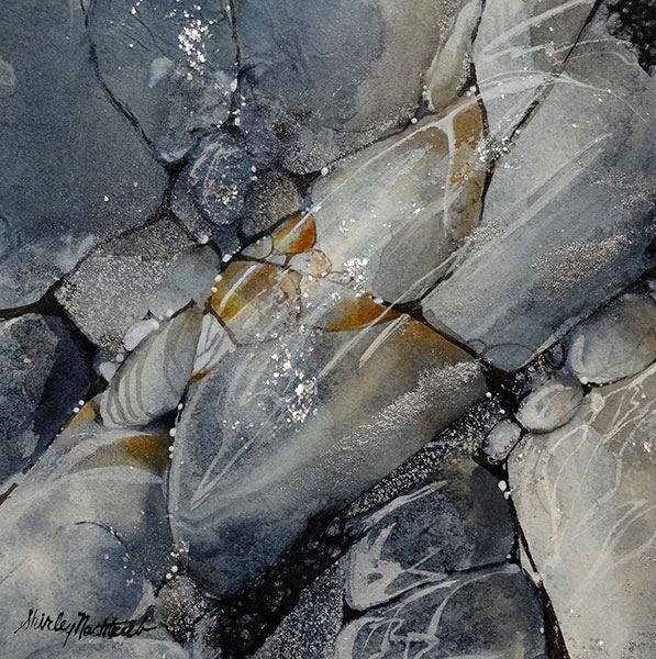Stones #1 - Collage by Shirley Nachtrieb
