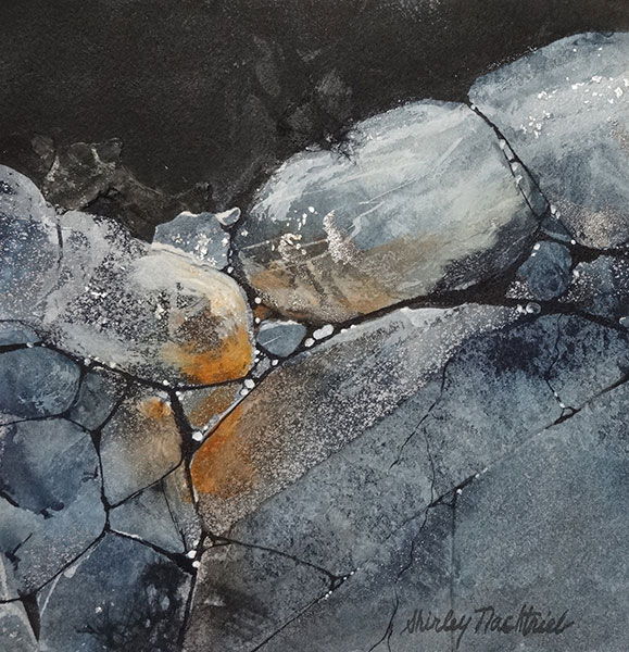 Stones #6 - Collage by Shirley Nachtrieb