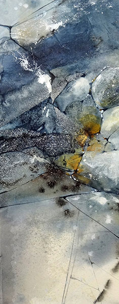 Stones 8 - Collage by Shirley Nachtrieb