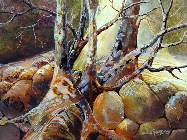 Secret Wood - Watercolor by Shirley Nachtrieb