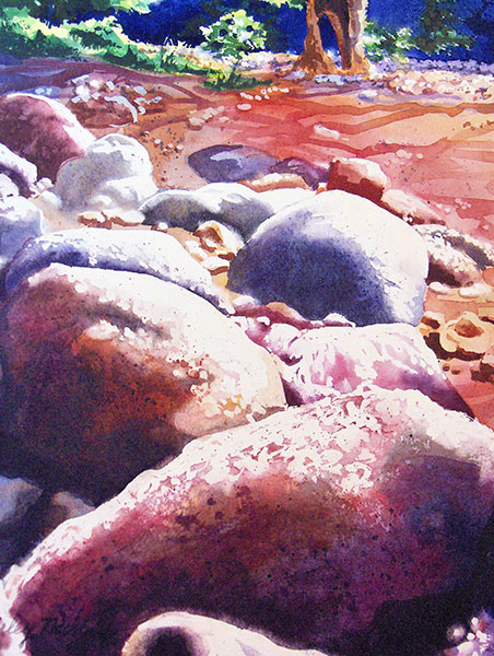 Verde River Rocks - Watercolor by Shirley Nachtrieb